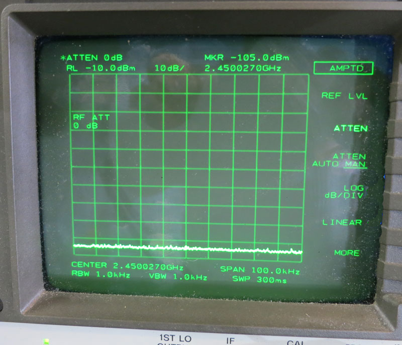 JRE HPSS-1 and Spectrum Analyzer Screen Demonstration Image